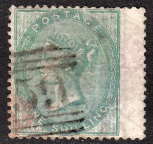 Great Britain Scott 28 VF to XF used wing margin with a light unobtrusive cancel