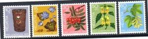 SWEDEN B434-B438 MNH SCV $3.85 BIN $2.30 FLOWERS