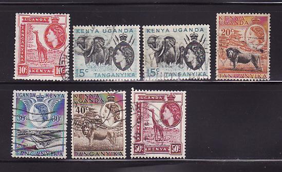 Kenya, Uganda, Tanzania 104-110 U Queen Elizabeth II
