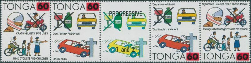 Tonga 1992 SG1187-1190 Road Safety surcharges set MNH