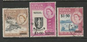 British Virgin islands 1966 Opts, 3 vals Used SG 207/9