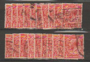 GB George V SG 419 Used -  selection of 20+ for shade study - see details
