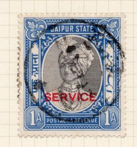 India Jaipur 1930s Early Issue Fine Used 1a. Optd 272973