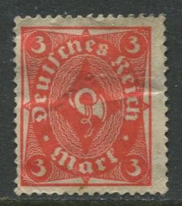 GERMANY. -Scott 178- Definitives -1921- Used - Wmk 126 - Single 3m Stamp