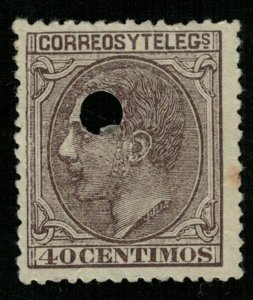King Alfonso XII 1879 Spain 40 centimos (3811-т)
