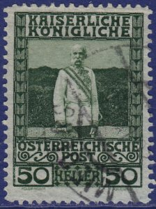 Austria - 1908 - Scott #121 - used - MIEDERS pmk