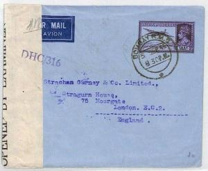 INDIA KGVI Cover 14a AIR LETTER 1945 Bombay WW2 Censor Air Mail {samwells}BL247
