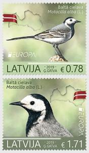 Stamps of Latvia 2019. - Europe 2019 - National Birds - Set.
