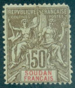 French Sudan #17  Mint  Scott $15.00  No Gum, Short Perfs