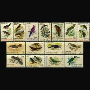 NORFOLK IS. 1970 - Scott# 126-40 Native Birds Set of 15 NH