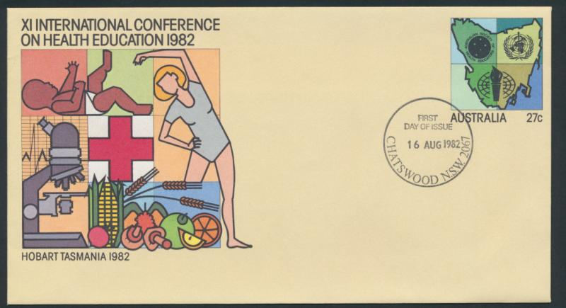 Australia PrePaid Envelope 1982 X1 International Conference on Health Education