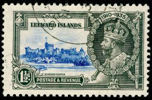 LEEWARD ISLANDS SG89, 1935 Silver Jubilee 1½d ultrmarine & grey, FINE USED.