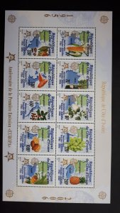 50th anniversary of EUROPA stamps - Ivory Coast compl set in 1 sheet ** MNH