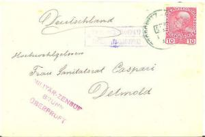 Austria scarce WWI military censored cover = Read !