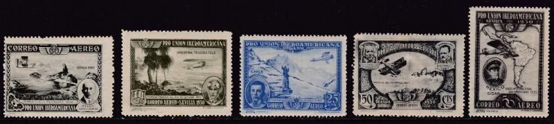 Spain 1930  Spanish-American Exposition Air Mails Complete (8) F/VF/Mint(*)