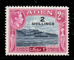 Aden 1951 KGVI 2/- on 2R SG 44 mint