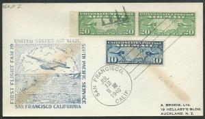 USA 1940 first flight cover to New Zealand.................389342
