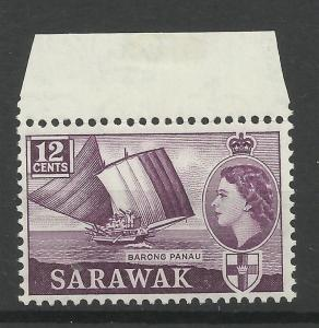 Sarawak 1955, Sg 194, 12c Plum, Unmounted Mint. [1446]