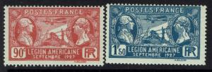 France SC# 243 and 244, Mint Never Hinged -  Lot 051617