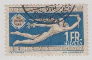Switzerland Scott #215 Stamp - Used Single