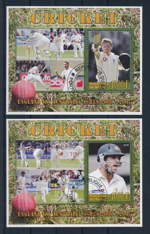 [58036] Benin 2006 Cricket The ashes Used CTO Sheets