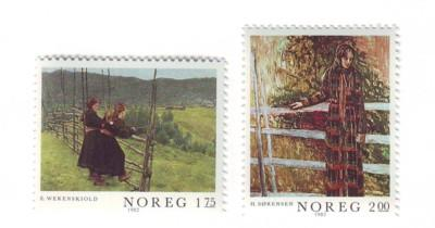 Norway Sc 807-8 1982 Paintings stamp set mint NH