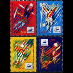 FRANCE 1997 - Scott# 2584-7 W.Cup Soccer Set of 4 NH