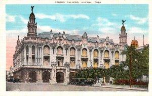 Cuba Postcard Havana Centro Gallego Unused Vintage