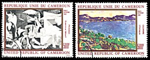 Cameroon C295-C296, CTO, Picasso and Cezanne Paintings