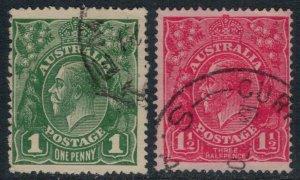 Australia #64-5  CV $13.75