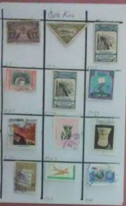 12 Valuable & desirable stamps from Costa Rico for only $1.00