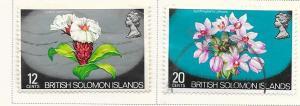 Solomon Islands  #239,241 Flowers (U) CV $2.05