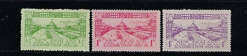 NEW ZEALAND SCOTT #179-181 1925 DUNEDIN EXHIBITION - MINT NEVER HINGED