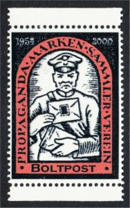 Propaganda Stamp Collector Club Postman Fantasy Stamp Artistamp by BoltPost