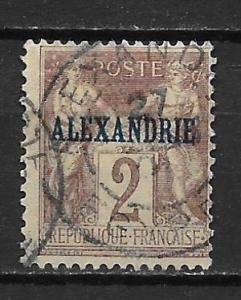 France Offices in Egypt - Alexandria 2 2c Commerece single Used