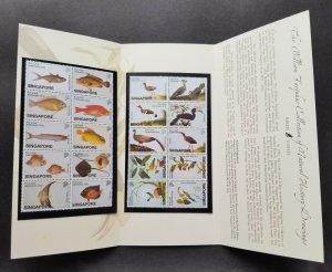 Singapore William Farquhar Drawings 2002 Fish Bird Pheasant (p.pack) MNH *c scan