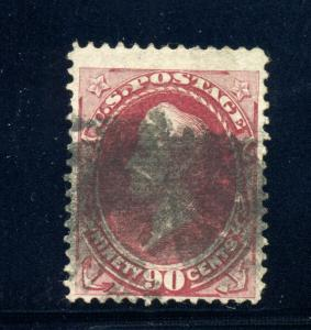 Scott #144 Perry Grill  Used Stamp with APS Cert (Stock#144-1)