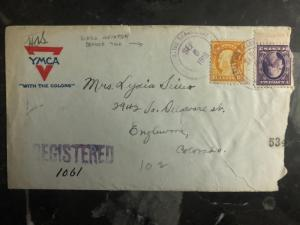 1918 Waco TX YMCA US Army Aviation Branch Cover to Englewood CO Mexico War