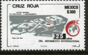 MEXICO 1557, INTERNATIONAL RED CROSS AND RED CRESCENT, 125th ANNIV. MINT NH F-VF