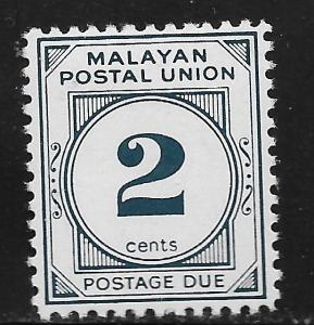 MALAYA, J29, MINT HINGED, POSTAGE DUE STAMPS