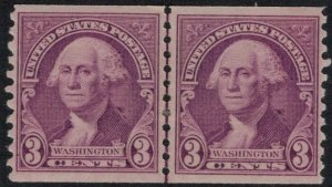 U.S. #721* Line Pair CV $10.00