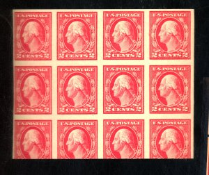 U.S. #409 MINT BLOCK OF 8 XF-SUP OG NH Cat $20