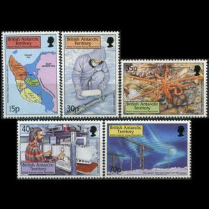 BR.ANTARCTIC TERR. 1999 - Scott# 280-4 Survey Set of 5 NH