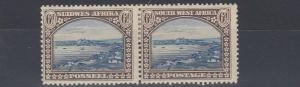 SOUTH WEST AFRICA  1931  S G 79  6D  BLUE & BROWN   MH