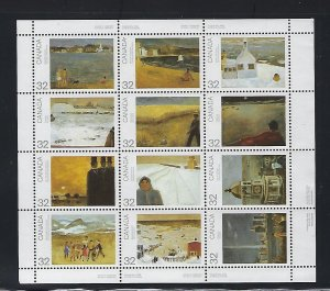 CANADA SCOTT #1016-1027A - 1984 CANADA DAY- PANE OF 12- MINT NEVER HINGED