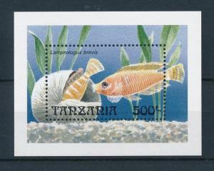 [26506] Tanzania 1992 Marine Life Fish MNH  Souvenir Sheet