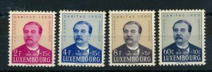LUXEMBOURG 1950 CARITAS STAMPS SET OF 4 MNH