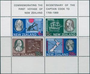 New Zealand 1969 SG910 Captain Cook's Landing MS MNH