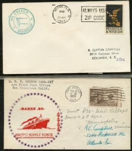 UNITED STATES USS - M/S OBERON LOT OF 2 ALL DIFFERENT COVERS 1950-1969 (27)