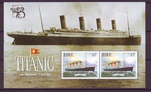 Z810 JLstamps 1999 ireland set + s/s mnh #1772b ship titantic